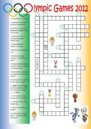 Olympics 2012 Crossword Puzzle