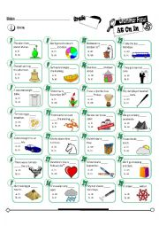 English Worksheet: Grammar Focus Series 35_At On In (Fully Editable + Key)