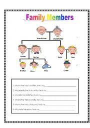 family relationships esl worksheet by dannunsa. Black Bedroom Furniture Sets. Home Design Ideas