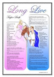 English Worksheets: Taylor Swift - Long Live