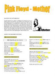 English Worksheets: Pink Floyd