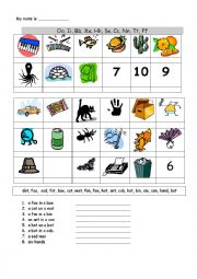 English Worksheets: Abc�s Practice with pic�s