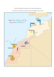 English Worksheet: What�s the weather like in Morocco