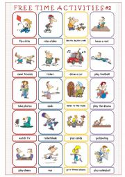English Worksheets: Free Time Activities #2