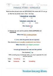 Phrasal verbs-Separable-Unseparable