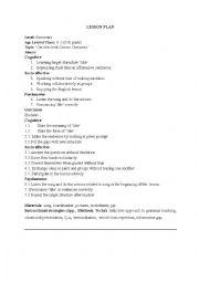 English Worksheet: like lesson plan