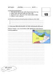 English Worksheets: THE UAE