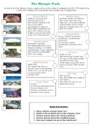 English Worksheet: The Olympic Park London 2012