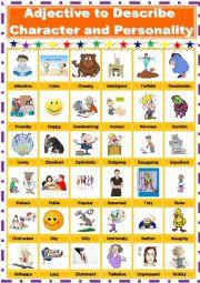 English teaching worksheets: Describing personality