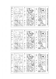 English Worksheets: Animals- missing letters