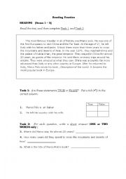 English Worksheets: Marco Polo