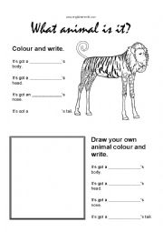 English Worksheet: Mixed up wild animals