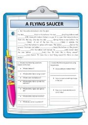 English Worksheets: A FLYING SAUCER