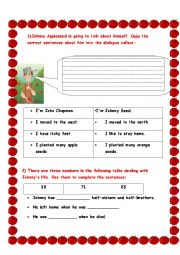 English Worksheets: Johnny Appleseed