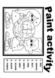 english worksheets color activity 3 - Color Activity