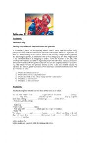English Worksheet: Spiderman 3