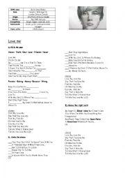 English Worksheets: Songs for kids
