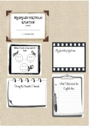 English Worksheets: English Portfolio Student Reflection