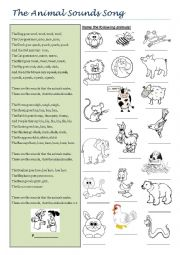 English Worksheet: The animals song