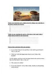 The Bucket List a movie-based worksheet