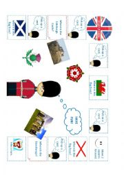 English Worksheet: United Kingdom Board Game (board)