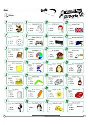 Grammar Focus Series 37_5W Question Words (Fully Editable + Key)