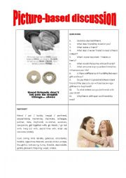 English Worksheet: Picture-based discussion friendship/friends