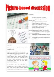 English Worksheet: Picture-based discussion examination/exams