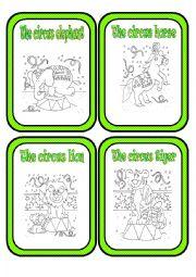 English Worksheet: At the Circus * Circus Animals * Part 1