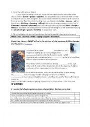 English Worksheet: 9th form Full term test 3