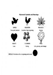 English Worksheets: Wycinanki Symbols
