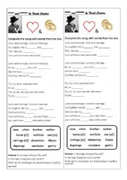 English Worksheet: Love and marriage by Frank Sinatra