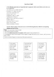 English Worksheets: Quarreling in english