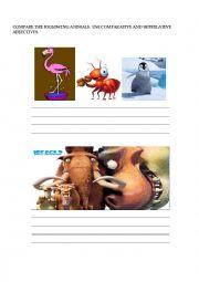 English worksheet: comparing Madagascar´s characters