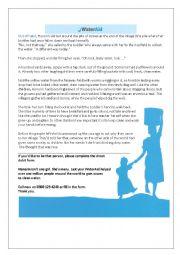 English Worksheet: Water Aid - Reading