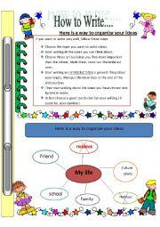 English Worksheets: writing1