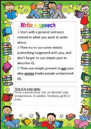 English Worksheets: writing 2