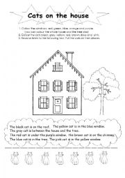 English Worksheets: House and Cats