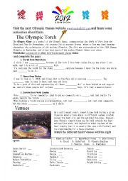 English Worksheet: London 2012 Olympic Games