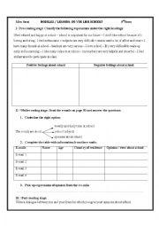 English Worksheet:  Module 2:lesson4:Do you like school?