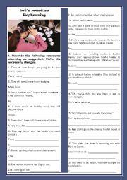 English Worksheet: LET�S PRACTISE REPHRASING