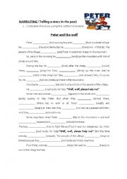 English Worksheet: Telling a story in the Past -