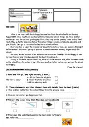English Worksheet: End-Of-Term Test N�3 7th Form