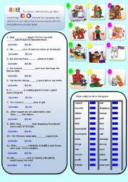English Worksheet: MAKE AND DO