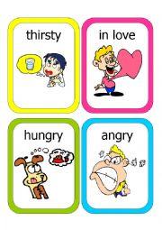 English Worksheet: Feelings Flash Cards #2