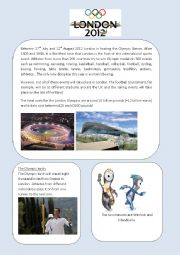 English Worksheet: London Olympics