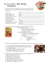 English Worksheets: wallace and gromit simple past