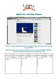 English Worksheets: Apple Inc. and Pop Culture