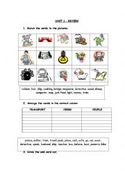 English Worksheets: Voc� practice with pic�s