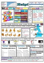 English Worksheet: 20 reminders on one page (let�s save paper!)